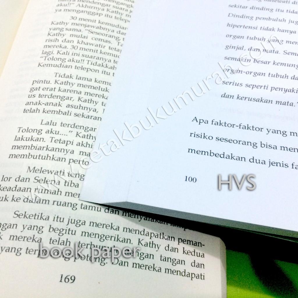 contoh kertas book paper dan hvs